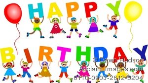happy birthday message for kids ; 0110-0903-2612-5204_group_kids_holding_up_a_happy_birthday_message