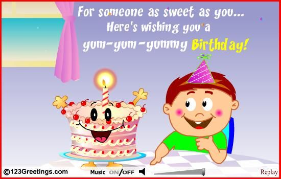 happy birthday message for kids ; bday-msg-for-kids-sharing-my-birthday-cake-because-everyone-needs-to-savour
