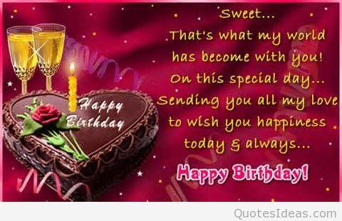 happy birthday message quotes ; Sweet-happy-birthday-saying-quote