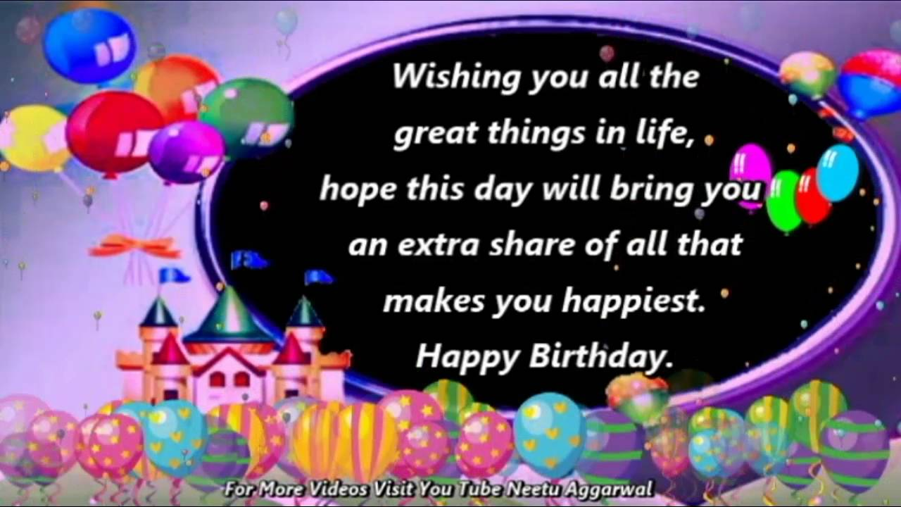 happy birthday message quotes ; maxresdefault