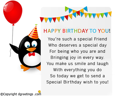 happy birthday message sample ; such-a-special-friend