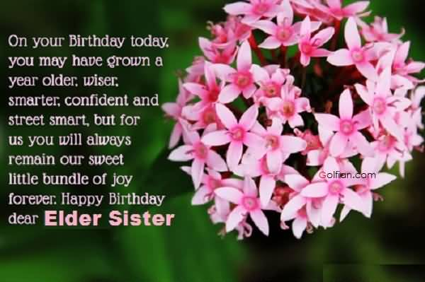 happy birthday message to a big sister ; Best-Message-Birthday-Wishes-For-Elder-Sister-E-Card