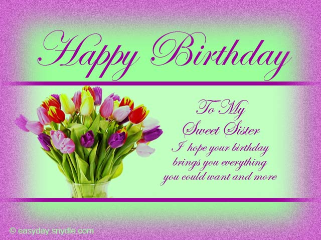 happy birthday message to a big sister ; birthday-cards-for-sister