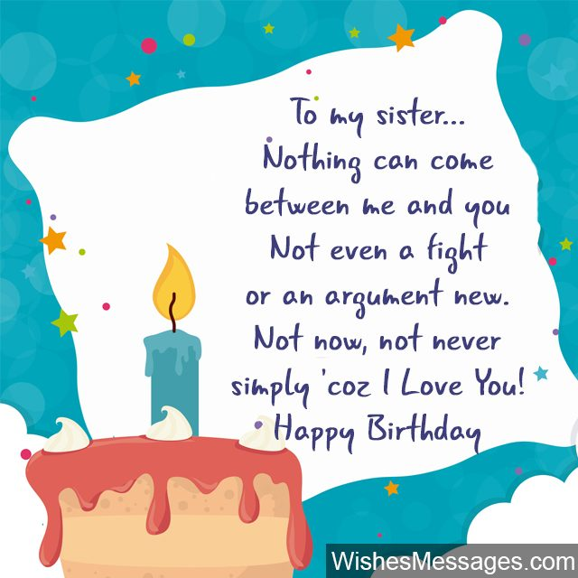 happy birthday message to little sister ; Birthday-cake-candles-greeting-card-for-sister-640x640