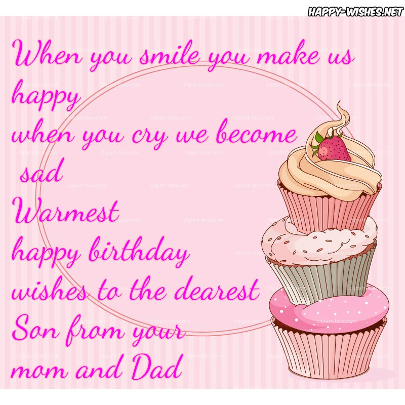 happy birthday message to mom from son ; HappyBirthdayWishesforSon-Quotes
