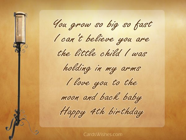 happy birthday message to my 4 year old son ; 4th-birthday-wishes-1