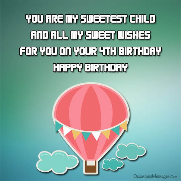 happy birthday message to my 4 year old son ; Happy-4th-birthday-cards