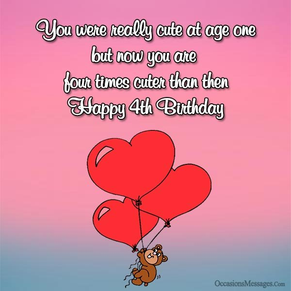 happy birthday message to my 4 year old son ; Happy-4th-birthday