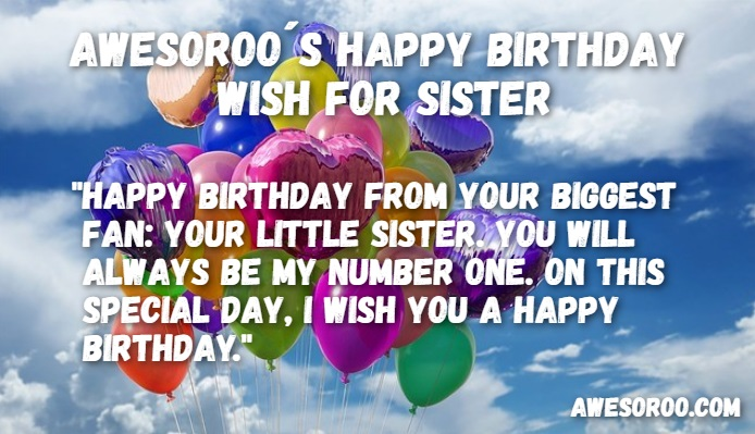 happy birthday message to my big sister ; balloons-for-sister