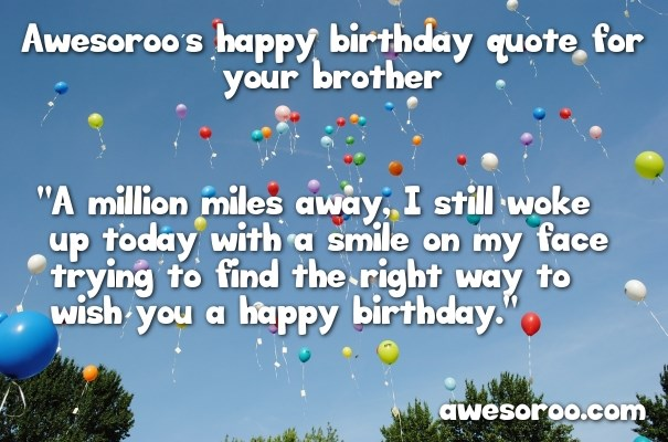 happy birthday message to my blood brother ; birthday-balloons