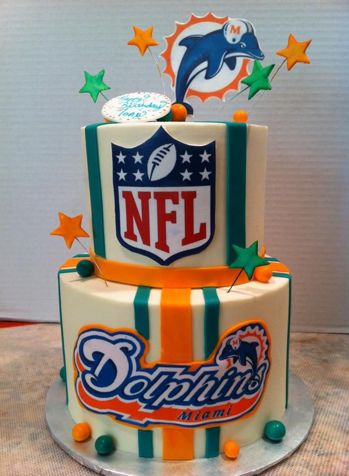happy birthday miami dolphins ; 52ed9e25205aeaaae0e45056f610a1a8--miami-dolphins-cake-cakes-for-occasions