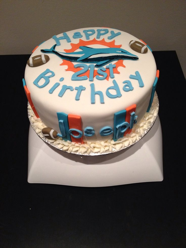 happy birthday miami dolphins ; miami-dolphins-birthday-cake-127-best-birthday-cakes-images-on-pinterest-anniversary-cakes