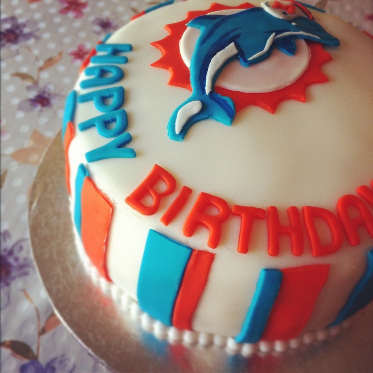 happy birthday miami dolphins ; miami-dolphins-birthday-cake_766083