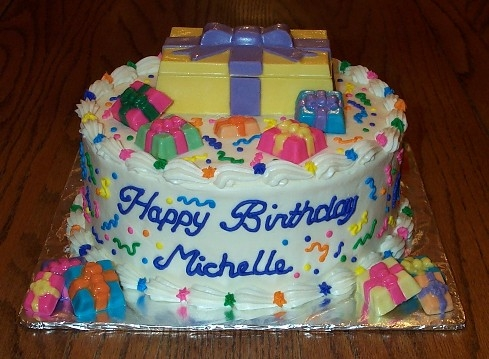 happy birthday michelle cake ; birthday-cake-michelle-presents-on-the-cake