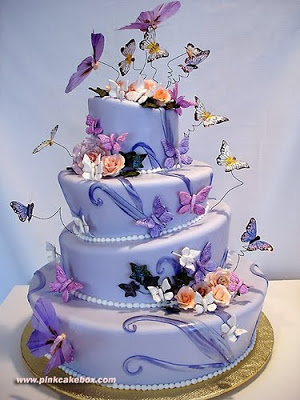 happy birthday michelle cake ; butterfly+cake+4+tier