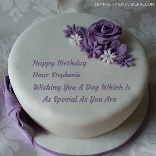 happy birthday michelle cake ; image