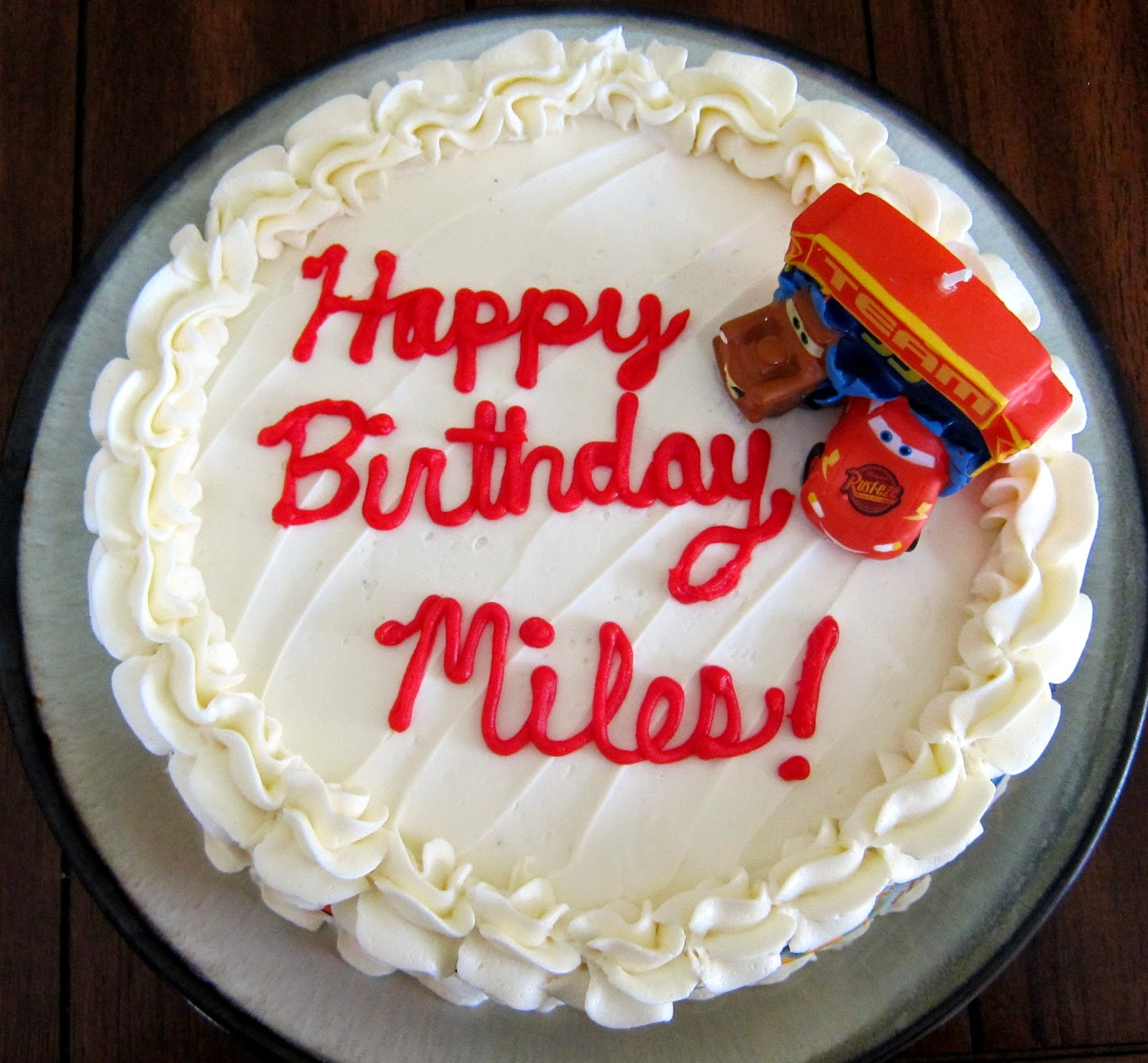 happy birthday miles ; Miles+Cake