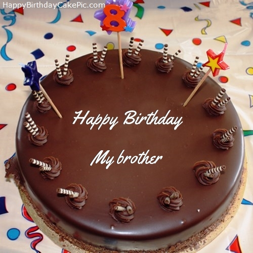 happy birthday my brother images ; 8th-chocolate-happy-birthday-cake-for-My%2520brother
