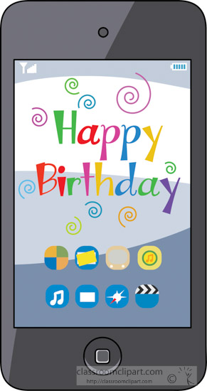 happy birthday on phone ; happy-birthday-message-on-phone-clipart-2a