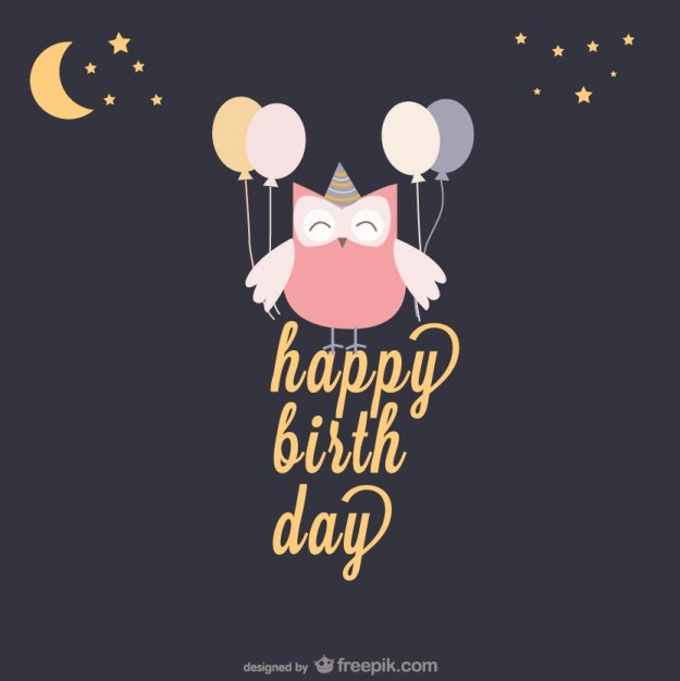 happy birthday owl ; happy-birthday-card-with-an-owl-and-balloons_23-2147487089