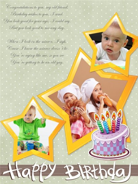 happy birthday photo collage template ; birthday2_14