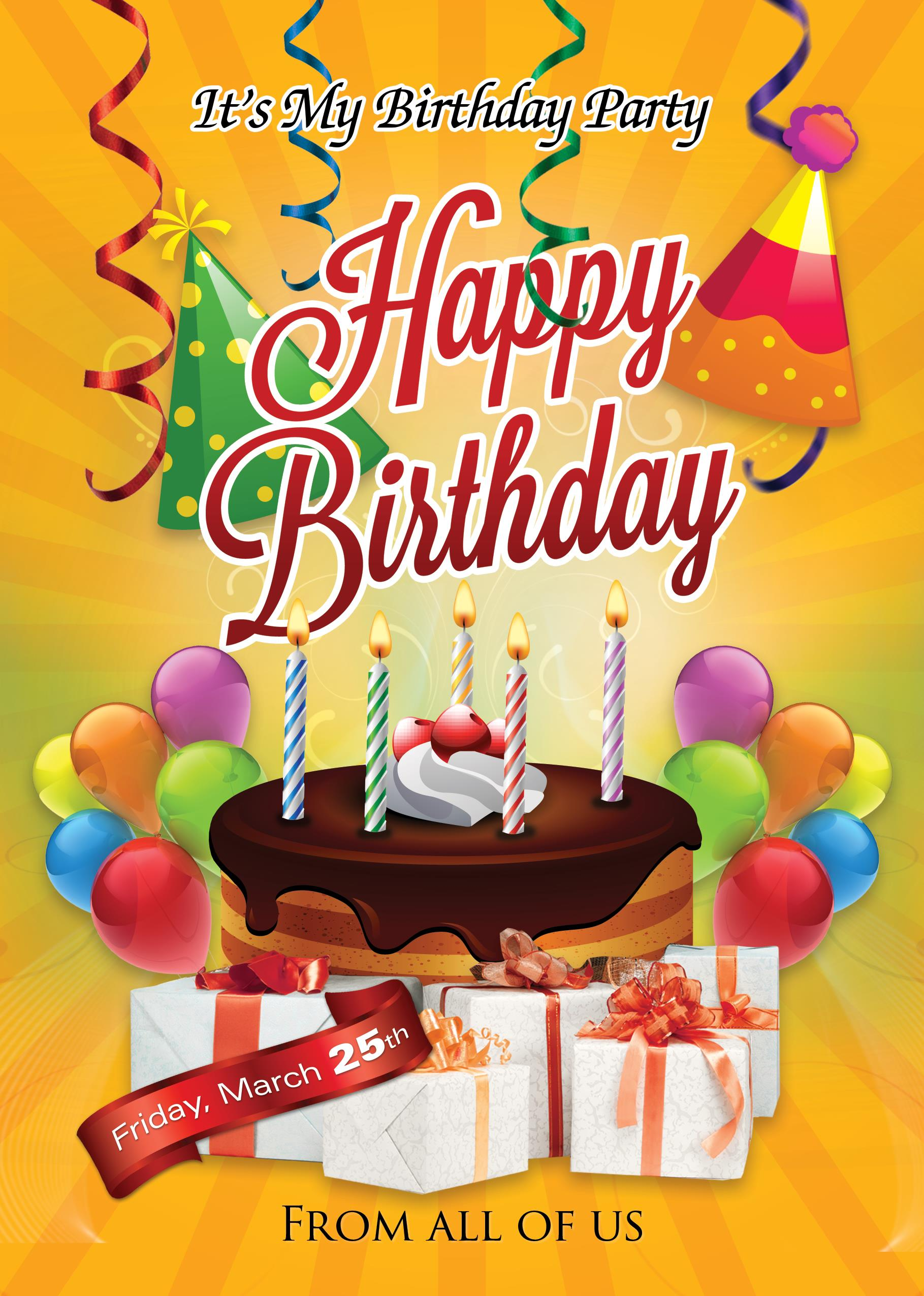 happy birthday photoshop template ; 1-Birthday-Party