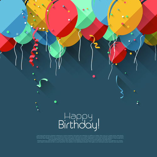 happy birthday photoshop template ; Colored-confetti-with-happy-birthday-gray-background-vector-03