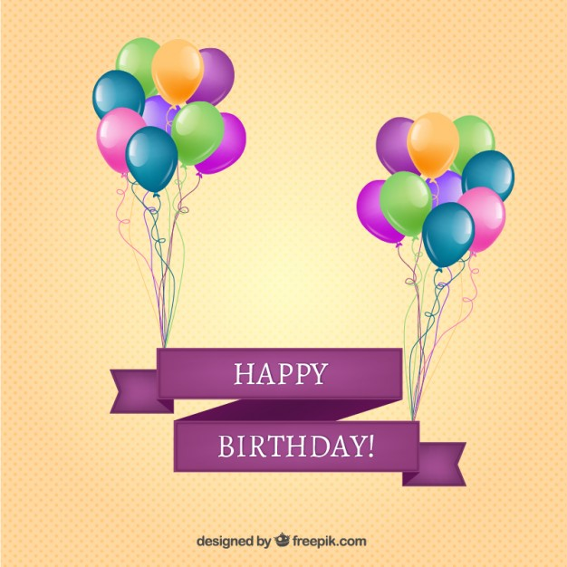 happy birthday photoshop template ; happy-birthday-banner-with-balloons-free-vector