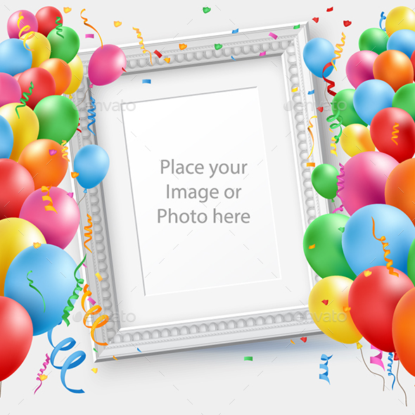 happy birthday photoshop template ; mock