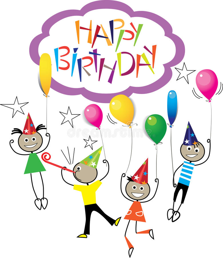 happy birthday pictures to draw ; drawing-image-stick-figure-kids-birthday-hand-draw-lettering-happy-birthday-design-vector-element-invitation-congratu-92771356