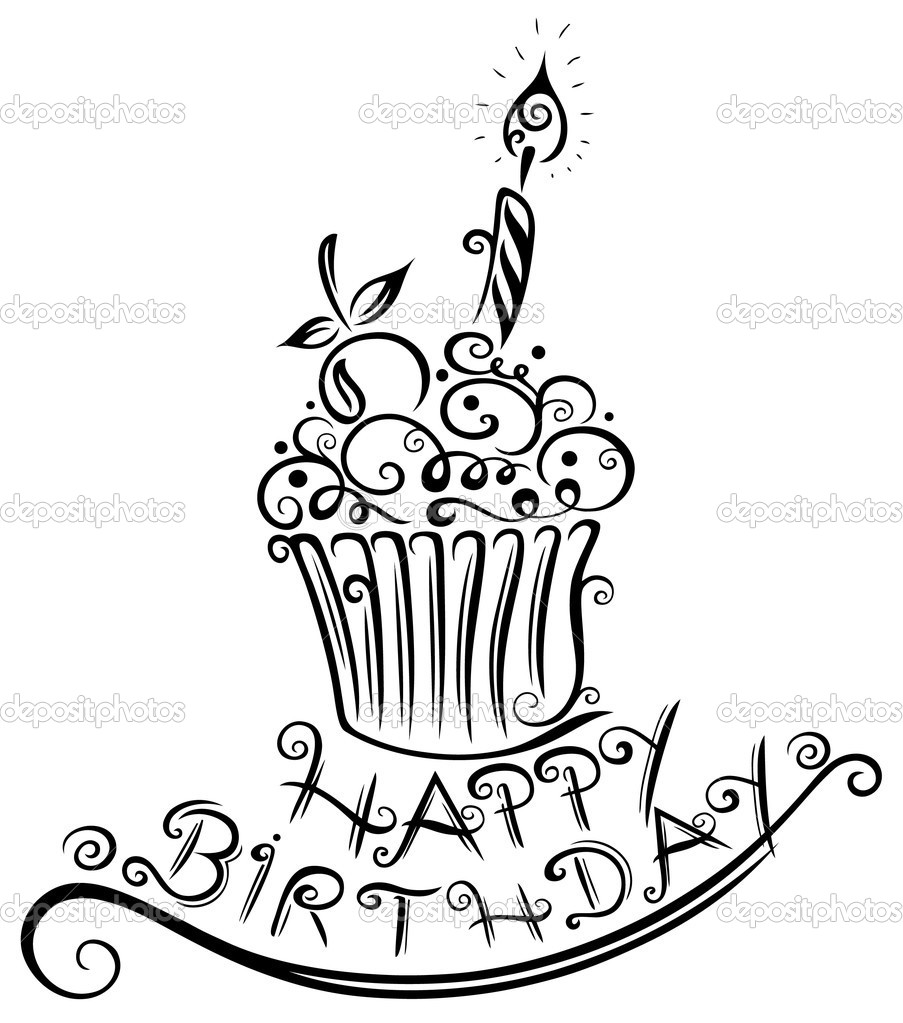 happy birthday pictures to draw ; happy-birthday-drawing-designs-28