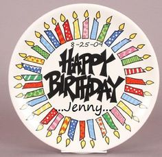 happy birthday plate ceramic ; 4dbe9fb6b12d13c7130a74f29154ae0d--painted-plates-painted-pottery