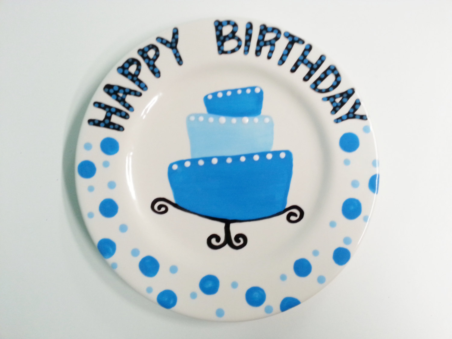 happy birthday plate ceramic ; hand-painted-ceramic-happy-birthday-plate-ceramic-birthday-plate-l-a9630d4b49b99a67