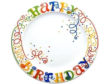 happy birthday plate ceramic ; paint-using-glass-or-ceramic-paints-set-the-plate-aside-for-about-two-hours-so-that-is-dried-completely-brush-gloss-glaze-on-painted-happy-birthday-birthdays-and-celeb