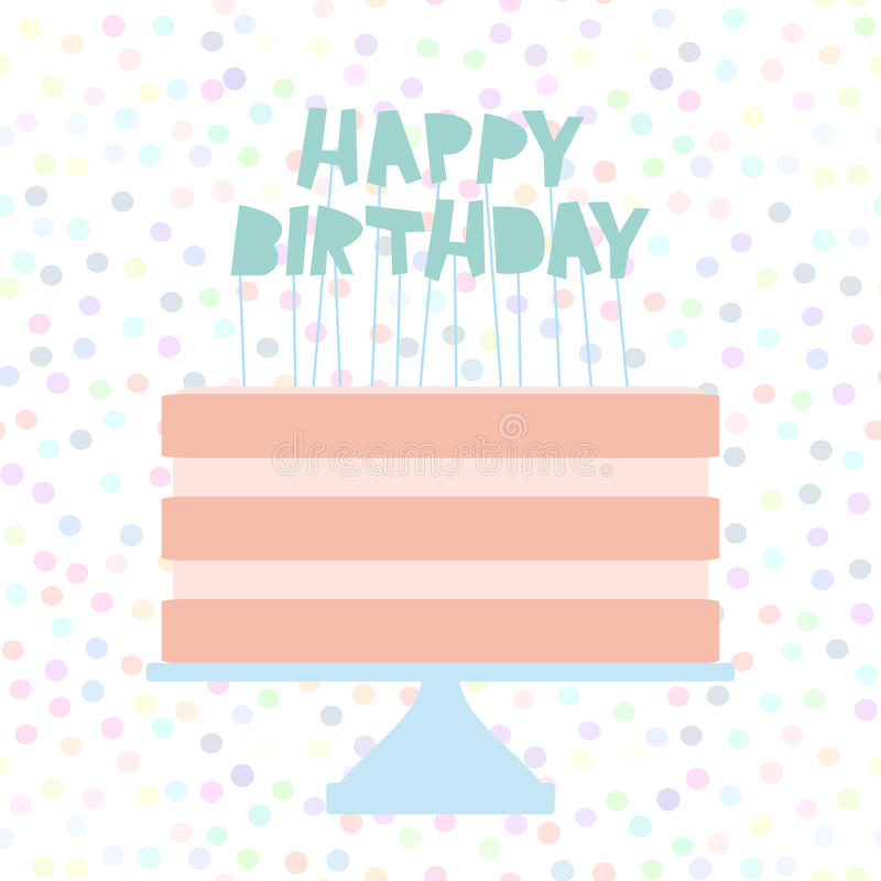 happy birthday polka dot banner ; happy-birthday-sweet-pink-cake-strawberry-pink-cream-banner-design-card-template-pastel-colors-white-polka-dot-background-99092326