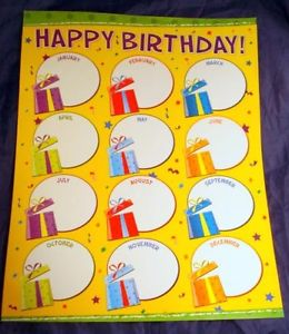 happy birthday poster for classroom ; s-l300