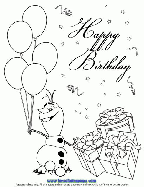 happy birthday princess coloring pages ; a170af9f04438cedeef857a73413f577--olaf-birthday-disney-birthday