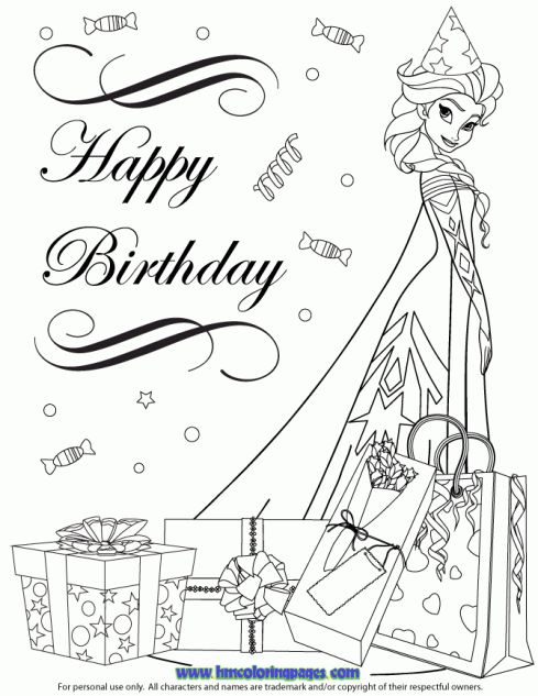 happy birthday princess coloring pages ; birthday-coloring-sheets-unique-103-best-disney-princess-coloring-images-on-pinterest-of-birthday-coloring-sheets