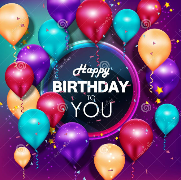 happy birthday psd background ; Colorful-Balloons-Happy-Birthday-on-Purple-Background-Image