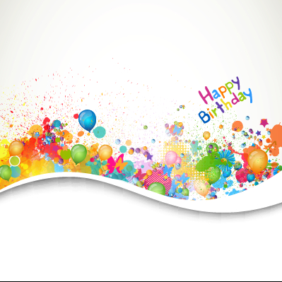 happy birthday psd background ; happy-birthday-balloon-grunge-background-vector-graphics-02-free