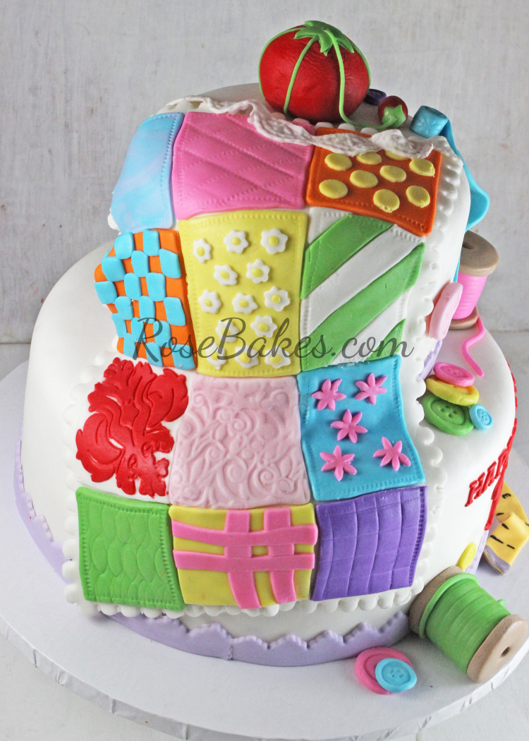 happy birthday quilt images ; Quilt-on-Sewing-Cake-e1426051700717