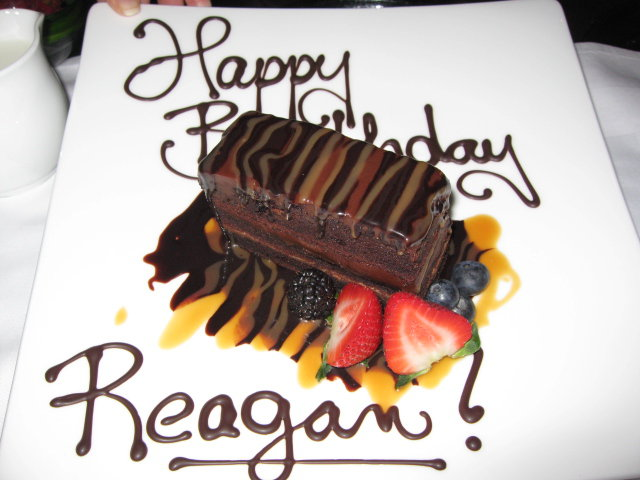 happy birthday reagan ; bday+cake