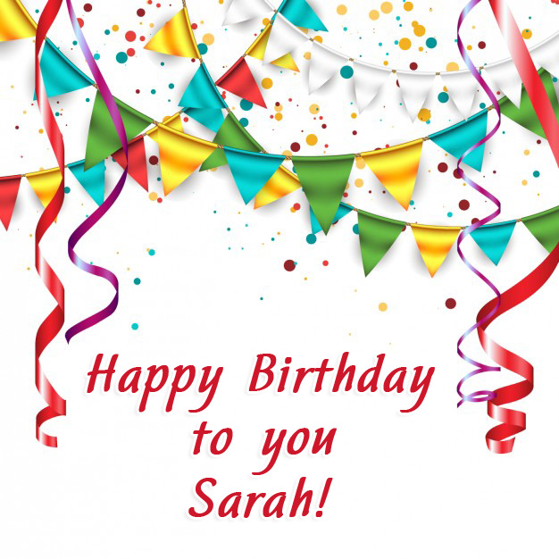 happy birthday sarah images ; name_15283