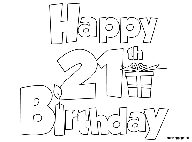 happy birthday sister coloring pages ; happy_21_birthday_coloring_page_9