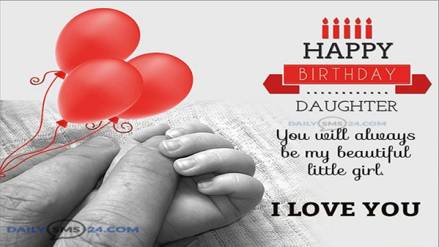 happy birthday small quotes ; Birthday-Status-For-Daughter-640x360