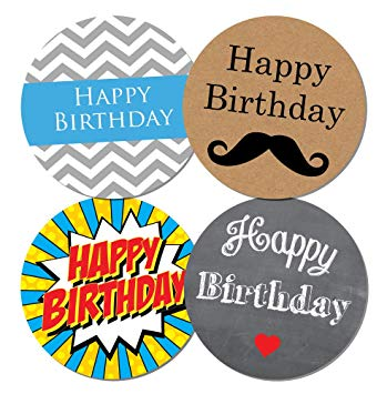 happy birthday stickers for men ; 71DyiO%252BFJAL