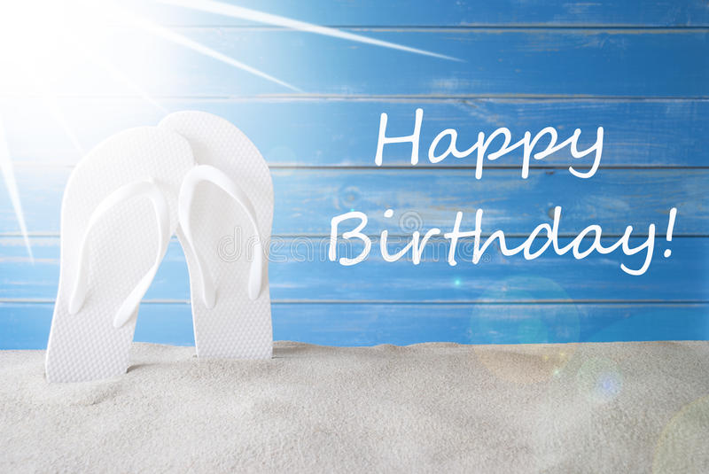 happy birthday summer images ; sunny-summer-background-text-happy-birthday-english-greeting-card-sand-flip-flops-blue-vintage-shabby-chic-wooden-96284793