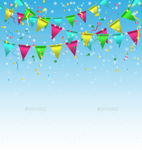 happy birthday tarpaulin background ; flags_0006_multicolored_with_confetti_on_blue_AM_IPr