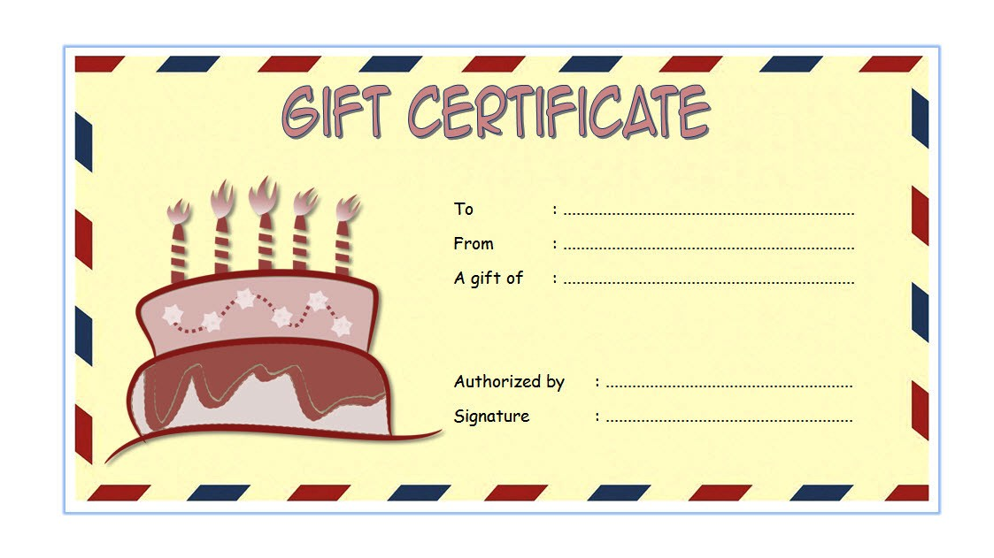 happy birthday template word free ; Birthday-Gift-Certificate-1