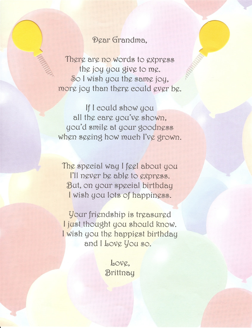 happy birthday to grandma in heaven poem ; 8f0ad36aedaf4f7dcce877c494b90fdf